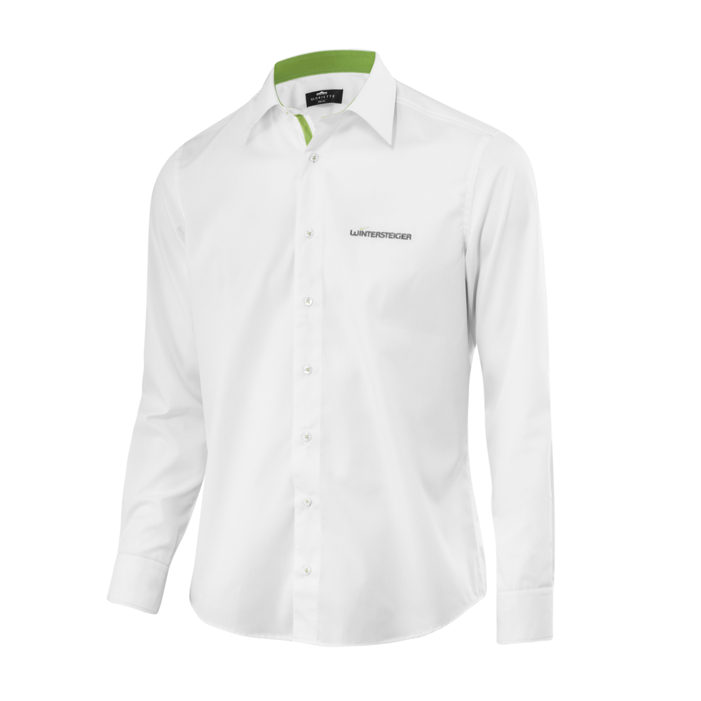 WINTERSTEIGER Herren Langarm-Hemd, weiß