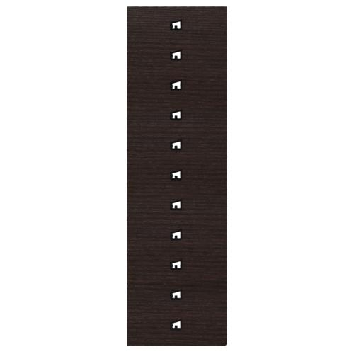 Trockner Schuhe/Handschuhe 5 Paar, Panel Eiche Schwarz-Braun, Haken,